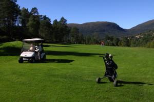 Golfbana ligg like ved!